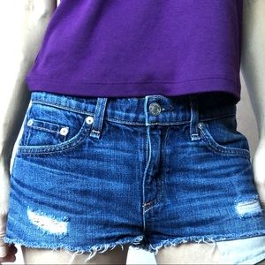 Rag & Bone Mila Distressed Cut Off Jeans Shorts 25